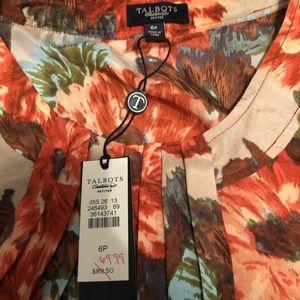 Talbots floral tank🌸